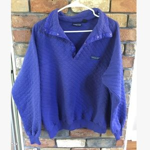 Patagonia Purple Quilted Snap-T Pullover XL Flawed